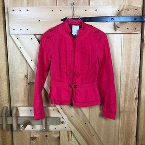 anthropologie   elevenses coral/pink jacket
